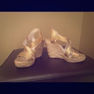 Micheal Korrs gold wedges